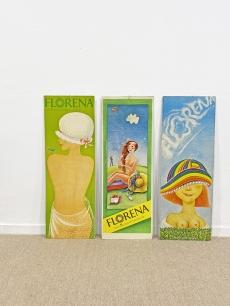 Különleges retro reklám plakát garnitúra - Florena