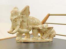 Art deco Komlós kerámia elefánt szobor