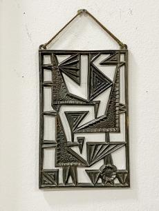 Iparművészeti bronz faldísz - madarak