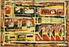 Eredeti absztrakt design szőnyeg - 1965