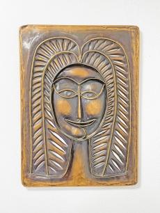 Jajesnica Róbert modernista bronz falplasztika