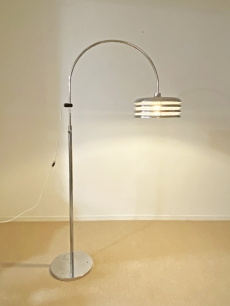 Borsfay Tamás design króm állólámpa