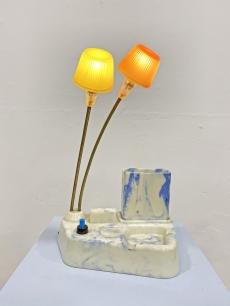 Elragadó retro asztali lámpácska