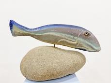 Retro kerámia hal szobor