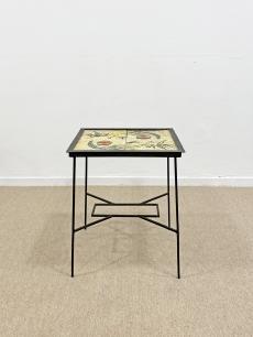 Modernista retro kerámialapos asztal