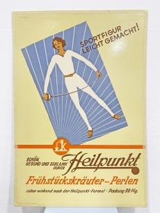 Korabeli szépségápolási reklámplakát Vívó lánnyal - 1955