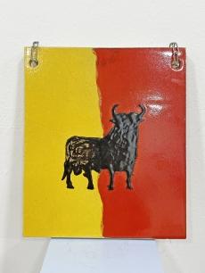 Retro bika samott falikép