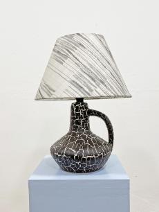 Mid-century modern kerámia asztali lámpa