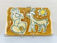 Zsolnay samott falikép - Zeusz és a kecske