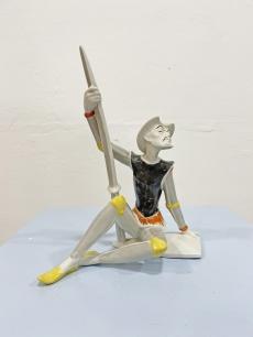 Veress Miklós Don Quijote Drasche porcelán szobor