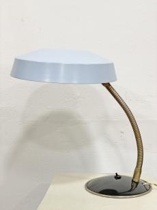 Mid-century modern világoskék íróasztali lámpa