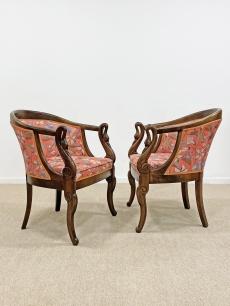 Faragott hattyú fotel pár