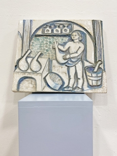 Zsolnay samott falikép