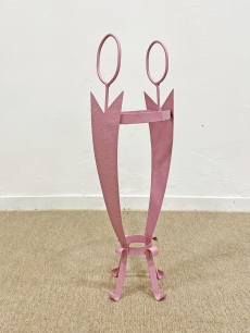 Rózsaszín vintage esernyőtartó