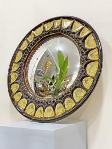 Gyönyörű kerámia keretes design tükör