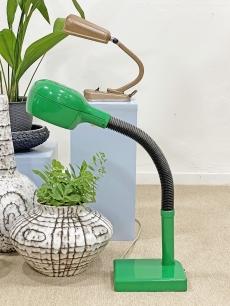 Zöld, retro íróasztali lámpa