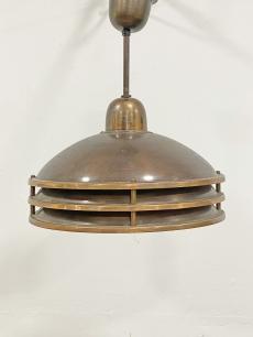 Vörösréz iparművészeti függő lámpa