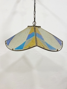 Pompás Olasz design üveg függőlámpa