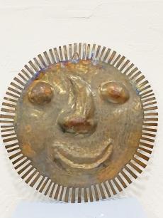 Bronz iparművészeti faldísz - nap