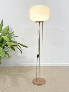 Pálcás retro állólámpa üveg búrával
