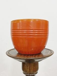 Narancs retro kerámia kaspó, Karda Imre