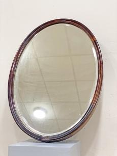 Gyönyörű ovális art deco tükör