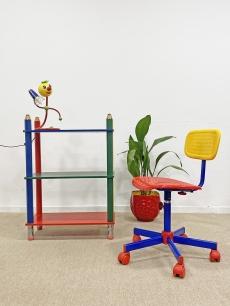 Ceruza garnitúra - gyerekbútor - polc, lámpa, szék