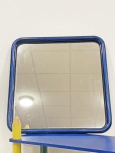 Metálkék csővázas design tükör