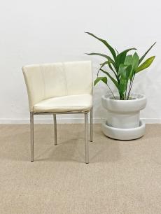Vajszínű vintage sarok szék