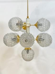 Pazar design csillár buborékos üvegekkel