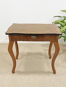 Antik biedermeier intarziás asztal