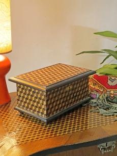 Antik intarziás doboz, ládika