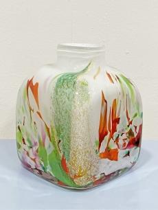 Színes, design fújt üveg váza