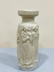 Zsolnay szocreál porcelán váza