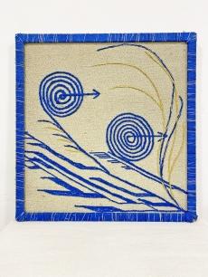 Iparművészeti kézműves textil falikép
