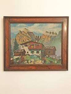 Alpesi táj festmény