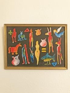 Szalay Pál - Absztrakt festmény - Aranymacska meséi