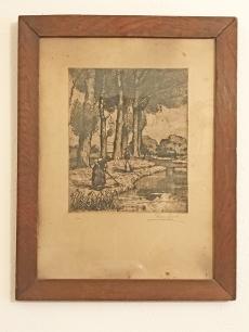 Tipary Dezső - életkép rézkarc - 1910