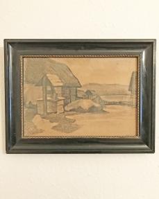 Tanyasi udvar kúttal - 1940