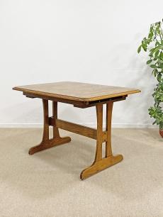 Retro, tölgyfa bővíthető étkezőasztal