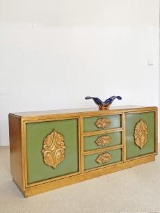 Extra, regency stílusú arany sideboard
