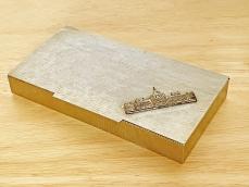 Krómozott retro fém doboz, Parlament díszítéssel