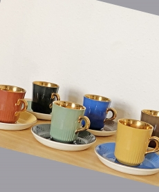 Figgjo Flint Norvég vintage porcelán kávéscsésze garnitúra