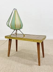 Mid-century modern, háromlábú, hagyma forma asztali lámpa