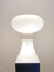 Space age design üveg asztali lámpa