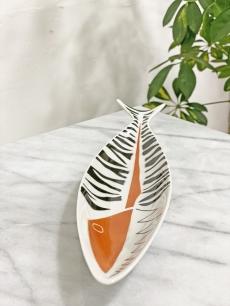 Drasche modernista porcelán hal dísztál