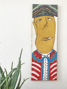 Svéd modern karikatúra festmény - dohányzó tengerész