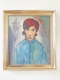 Gera Gyula festmény - lány portré