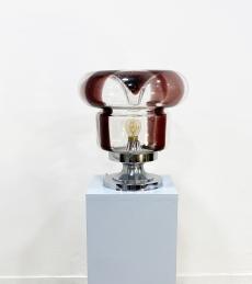 Olasz design fújt üveg asztali lámpa