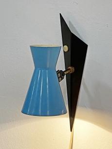 Csodás mid-century modern kék fali lámpa